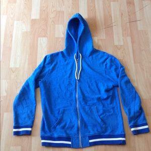 Blue Hooded Zip Up